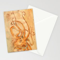 Octopus Drinking Tea Stationery Cards