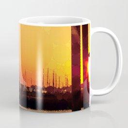 Yacht Basin Marina View Sunset Southport NC Coffee Mug