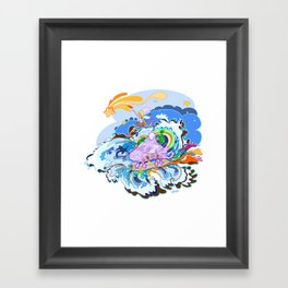 Catch me Framed Art Print