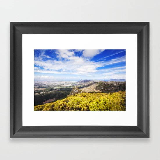 View of Silvermine and False Bay Framed Art Print