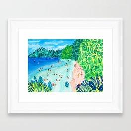 Glassy Island Framed Art Print