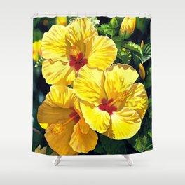 Yellow Hibiscus #18 Shower Curtain