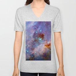 Space nebula Unisex V-Neck