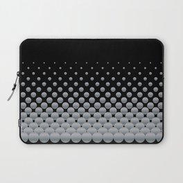 Grey Ball Background Laptop Sleeve
