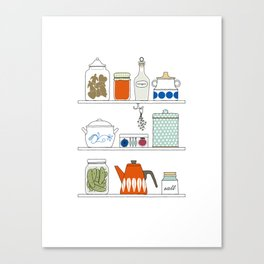 Scandinavian Pantry Canvas Print