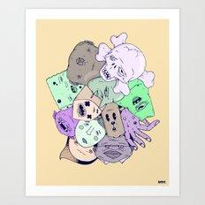 Heads Art Print