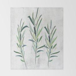 Eucalyptus Branches Throw Blanket
