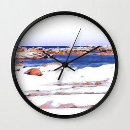 Seal on Rocks, Kaikoura Wall Clock
