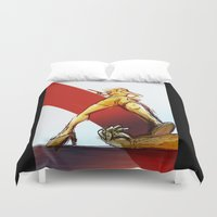 kindle Duvet Covers featuring Femme Fatale by garciarts