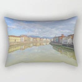 Colorful old houses in Pisa, Tuscany, Italy Rectangular Pillow