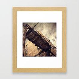 Power Above Framed Art Print