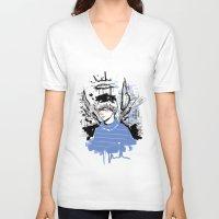 finn V-neck T-shirts featuring Finn by PennyHappy