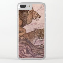 Vintage Lion Painting (1909) Clear iPhone Case