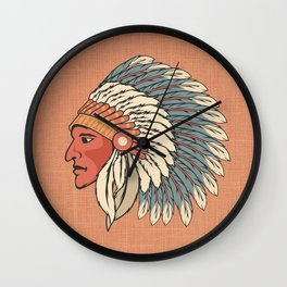 The Big Feathered Head Wall Clock