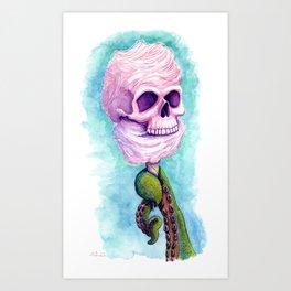 Cotton Candy Cthulhu Art Print