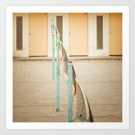 Volley Beach Art Print