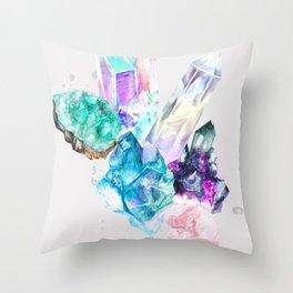 Crystal Daze Cluster Throw Pillow