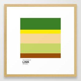 The Colors of Link Framed Art Print