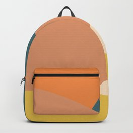 Mountains abstract (autumn morning) Backpack