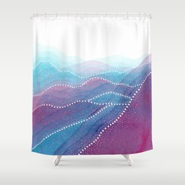 Frequency of the Mountains Shower Curtain