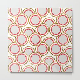 Petite Glitter circles collection Metal Print
