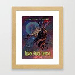Black Space Demon Framed Art Print
