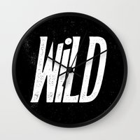 into the wild Wall Clocks featuring Wild by Josh LaFayette
