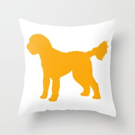 Goldendoodle Doodle Throw Pillow