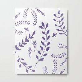Ultra Violet Leaves Pattern #1 #drawing #decor #art #society6 Metal Print