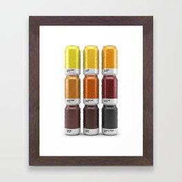 Beer colors Framed Art Print