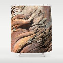 Eucalyptus tree bark texture Shower Curtain