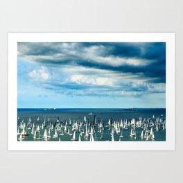 The Barcolana regatta in the gulf of Trieste Art Print