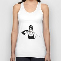 audrey Tank Tops featuring Audrey by Clementine Petrova