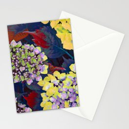 Hydrangea Yellow Stationery Cards