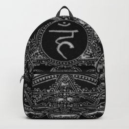 Black and White Throat Chakra Backpack