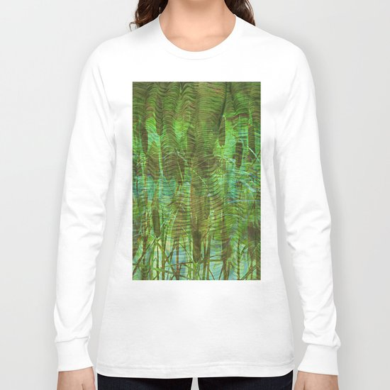 Blue Reed Long Sleeve T-shirt