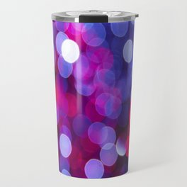 Pittsburgh Market Square Christmas Bokeh Travel Mug