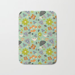 Mushroom Jungle Bath Mat