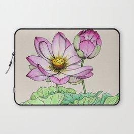 Botanical illustration lotus Laptop Sleeve