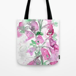 Foxgloves Fancy Tote Bag