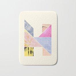 Collaged Tangram Alphabet - H Bath Mat