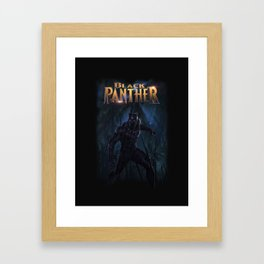 T'Challa , The Black Panther Framed Art Print