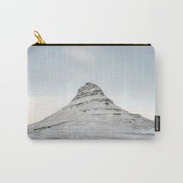 Mountain view at Mount Kirkjufell in Iceland Carry-All Pouch