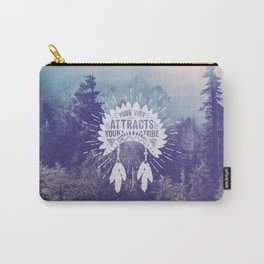 Your Vibe Attracts Your Tribe - Foggy Forest Carry-All Pouch