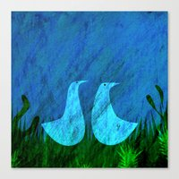 lovers Canvas Prints featuring Lovers by Inmyfantasia