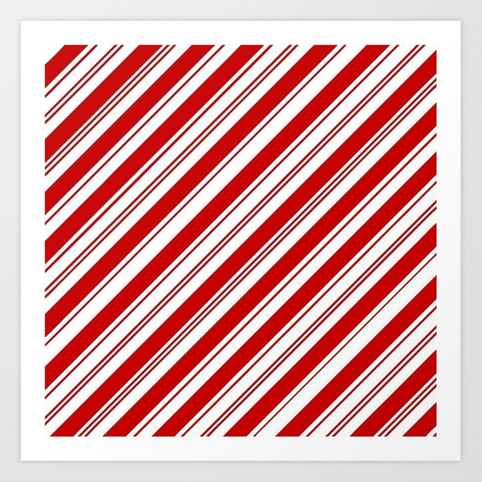 winter holiday xmas red white striped peppermint candy cane Kunstdrucke