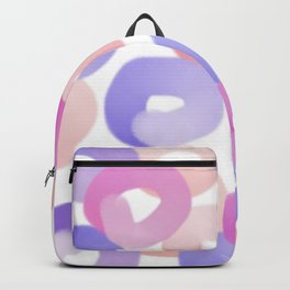 colorful art, round circles, sweet donuts Backpack