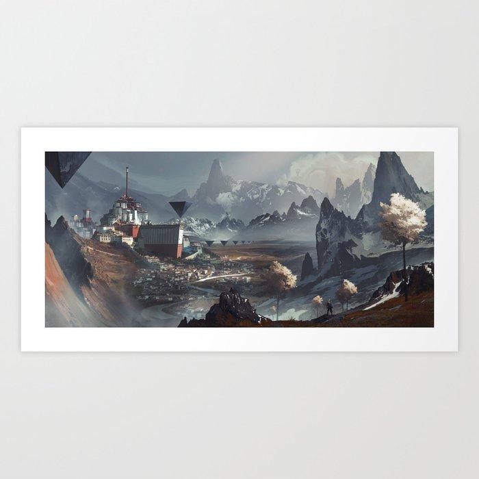 Hemelstad Art Print