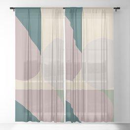 Contemporary Composition 11 Sheer Curtain