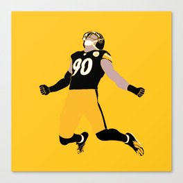 Pittsburgh Steeler TJ Watt Gifts Canvas Print